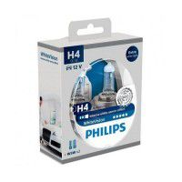Philips H4 WhiteVision Intense white xenon effect  2 gab. + 2x W5W auto spuldzes