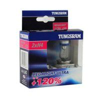Tungsram H4 Megalight Ultra +120% P43t Halogena auto spuldzes 60/55W 50440SNU 2 gab.