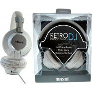Maxell Retro DJ stereo austiņas (baltas)