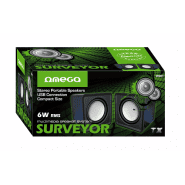 Omega Surveyor Multimedia Speakers USB 2.0 6W skaļruņi OG01 (melni)