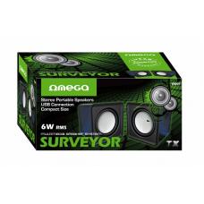 Omega Surveyor Multimedia Speakers USB 2.0 6W skaļruņi OG01 (melni)