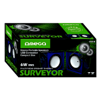 Omega Surveyor Multimedia Speakers USB 2.0 6W skaļruņi OG01B (melni / zili)
