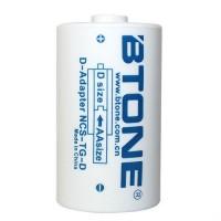 BTONE adapteris AA -> D izmēra akumulatoriem / baterijām
