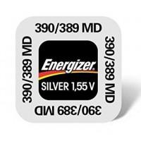 Energizer 390 / 389 / SR1130SW / SR1130W / SR54 1.55V 85mAh 0% Hg Silver oxide baterija