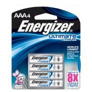 Energizer Ultimate Lithium 4x AAA / LR03 / FR03 1.5V litija baterijas