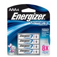 Energizer Ultimate Lithium AAA / LR03 / FR03 1.5V batteries, 4 pc.