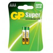 GP Super AAAA (25A / E96 / LR8D425) 1.5V Alkaline baterijas 2 gab.