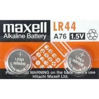 Maxell LR44 A76/KA76/VI3GA 1.5V 80mAh 0% Hg Alkaline baterijas (ražots Japānā) 2 gab.