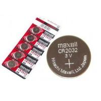 Maxell CR2032 / DL2032/ ECR2032 3V 220mAh litija elektronikas baterijas (ražots Japānā) 5 gab.