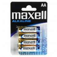 Maxell AA / LR6 / MN1500 0% Hg Alkaline baterijas (ražots Japānā) 4 gab.