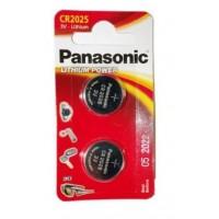 Panasonic CR2025 / DL2025 3V 165mAh 0%Hg litija baterijas 2 gab.