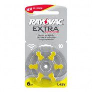 Rayovac Extra Advanced 10 1.45V 0%Hg hearing aid batteries, 6 pc. (Expiration date: 2022)