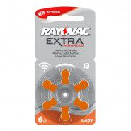 Rayovac Extra Advanced 13 1.45V baterijas dzirdes aparātiem (Hearing Aid, dzirdes aparātu baterijas) 6 gab.