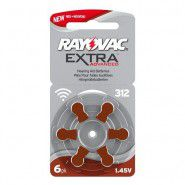 Rayovac Extra Advanced 312 1.45V 0%Hg hearing aid batteries, 6 pc. (Expiration date: 12.2023)