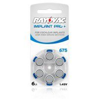 Rayovac Implant Pro+ 675 1.45V Hearing Aid Implant Batteries 6pcs