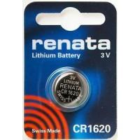 Renata CR1620 3V 68mAh litija elektronikas (electronics) baterija (ražots Šveicē)