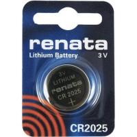 Renata CR2025 3V 165mAh litija elektronikas (electronics) baterija (ražots PRC)