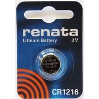 Renata CR1216 3V 30mAh litija elektronikas (electronics) baterija (ražots Japānā)