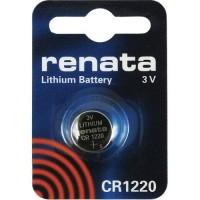 Renata CR1220 3V 40mAh litija elektronikas (electronics) baterija (ražots Japānā)