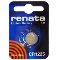 Renata CR1225 3V 48mAh litija elektronikas (electronics) baterija (ražots Šveicē)