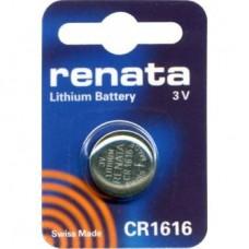 Renata CR1616 3V 50mAh litija elektronikas (electronics) baterija (ražots Šveicē)