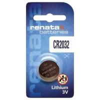 Renata CR2032 3V 225mAh litija elektronikas (electronics) baterija (ražots PRC)