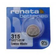 Renata 315 SR716SW Low Drain 1.55V Silver 0% Hg watch pulksteņu baterija. Ražots Šveicē