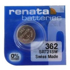 Renata 362 SR721SW Low Drain 1.55V Silver 0% Hg watch pulksteņu baterija. Ražots Šveicē