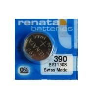 Renata 390 SR1130S Low Drain 1.55V Silver 0% Hg watch pulksteņu baterija. Ražots Šveicē
