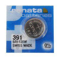 Renata 391 SR1120W High Drain 1.55V Silver 0% Hg watch battery. Made in Switzerland (Expiry date: 06/2019)