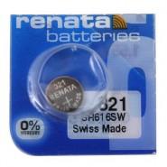 Renata 321 SR616SW Low Drain 1.55V Silver 0% Hg watch pulksteņu baterija. Ražots Šveicē