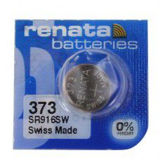 Renata 373 SR916SW Low Drain 1.55V Silver 0% Hg watch battery. Made in Switzerland (Expiry date 11/2022)