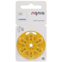 Siemens Signia 10 / PR70 1.45V 100mAh 0%Hg hearing aid (zinc-air) batteries. Made in Germany (Expiration date: 12.2019.)