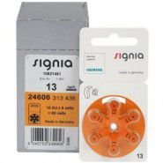 10x set: Siemens Signia 13 / PR48 1.45V 310mAh 0%Hg hearing aid (zinc-air) batteries. Made in Germany