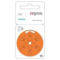 Siemens Signia 13 / PR48 1.45V 310mAh 0%Hg hearing aid (zinc-air) baterijas dzirdes aparātiem. Ražotas Vācijā (10.2019.)