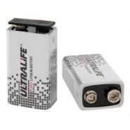 Ultralife 9V (6LR61, U9VL-J-P) 1200mAh lithium battery