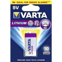 Varta Lithium 9V / E-Block / 6LR61 / 6122 1200mAh litija baterija 1 gab.