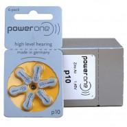 10 pack komplekts: Varta PowerOne 10/ p10 / PR70 1.45V 100mAh 0%Hg hearing aid (zinc-air) baterijas dzirdes aparātiem. Ražotas Vācijā