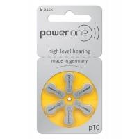 Varta PowerOne 10/ p10 / PR70 1.45V 100mAh 0%Hg hearing aid (zinc-air) baterijas dzirdes aparātiem. Ražotas Vācijā