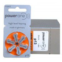10 pack komplekts: Varta PowerOne 13/ p13 / PR48 1.45V 300mAh 0%Hg hearing aid (zinc-air) baterijas dzirdes aparātiem. Ražotas Vācijā