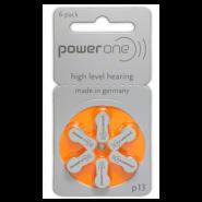 Varta PowerOne 13/ p13 / PR48 1.45V 300mAh 0%Hg hearing aid (zinc-air) baterijas dzirdes aparātiem. Ražotas Vācijā