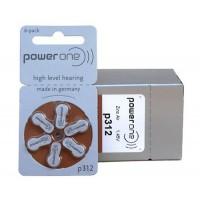 10 pack komplekts: Varta PowerOne 312/ p312 / PR41 1.45V 170mAh 0%Hg hearing aid (zinc-air) baterijas dzirdes aparātiem. Ražotas Vācijā