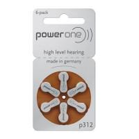 Varta PowerOne 312/ p312 / PR41 1.45V 170mAh 0%Hg hearing aid (zinc-air) baterijas dzirdes aparātiem. Ražotas Vācijā