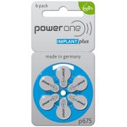 Varta PowerOne Implant Plus 675/ p675 / PR44 1.45V 540mAh 0%Hg hearing aid (zinc-air) baterijas dzirdes aparātiem. Ražotas Vācijā