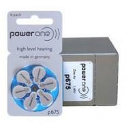 10 pack komplekts: Varta PowerOne 675/ p675 / PR44 1.45V 650mAh 0%Hg hearing aid (zinc-air) baterijas dzirdes aparātiem. Ražotas Vācijā