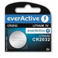 everActive CR2032 / DL2032/ ECR2032 3V 210mAh (min) Litija baterija 1 gab.