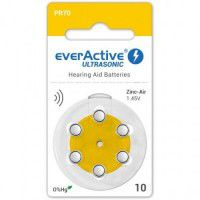 everActive Ultrasonic 10 / PR70 1.45V 0%Hg Zinc Air Hearing Aid batteries