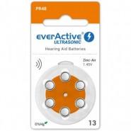 everActive Ultrasonic 13 / PR48 1.45V 0%Hg Zinc Air baterijas dzirdes aparātiem (Hearing Aid)