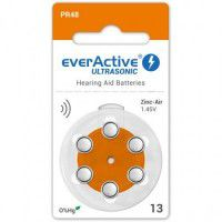 everActive Ultrasonic 13 / PR48 1.45V 0%Hg Zinc Air Hearing Aid batteries