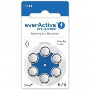 everActive Ultrasonic 675 / PR44 1.45V 0%Hg Zinc Air Hearing Aid batteries